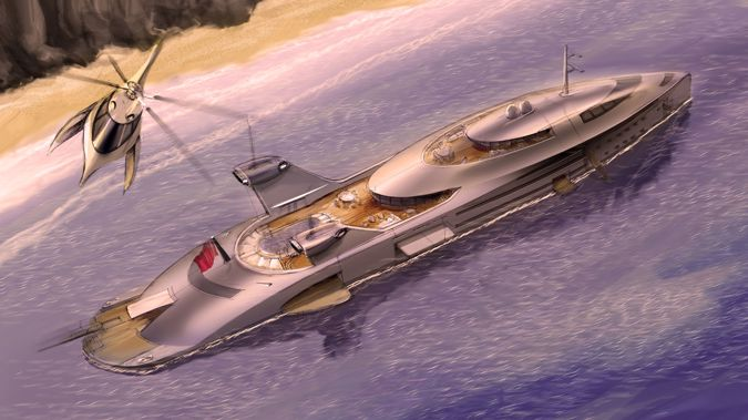 Yacht designer Uros Pavasovic has come up with a rather unorthodox way of utilizing discarded aircraft while simultaneously pushing the boundaries of superyacht design.