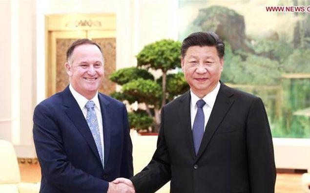 Sir John Key meeting with China's President Xi Jinping. (Photo / Supplied)