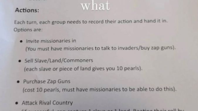 Parent shocked after Porirua class asked to play 'racist' game