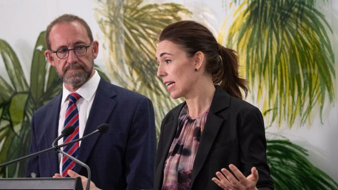Health Minister Andrew Little and Prime Minister Jacinda Ardern. Photo / Mark Mitchell