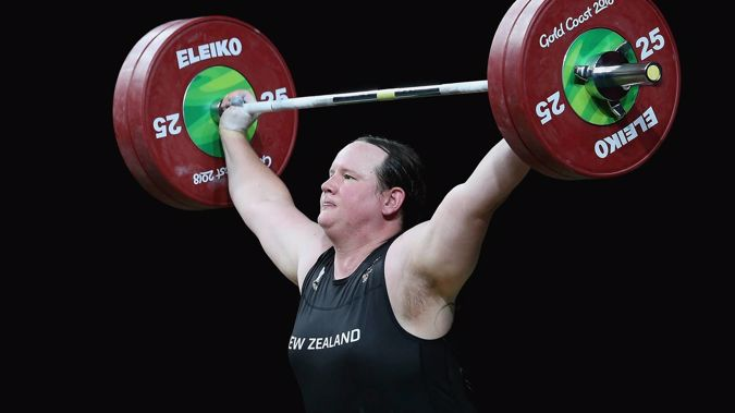 Laurel Hubbard competing at the 2018 Gold Coast Commonwealth Games. (Photo / Getty)