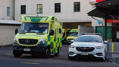 Ambulances outside Middlemore Hospital on Tuesday. (Photo / Dean Purcell)