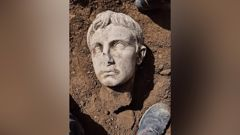 Emperor Augustus' bust. (Photo / CNN)