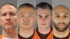 Chauvin, Thao, Kueng and the fourth officer, Thomas Lane, all face a charge for failing to give Floyd medical aid. (Photo / CNN)