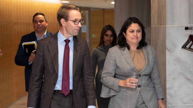 Director general of health Dr Ashley Bloomfield and Associate Minister of Health Dr Ayesha Verrall arriving for a vaccine rollout and Covid-19 response update recently. Photo / Mark Mitchell