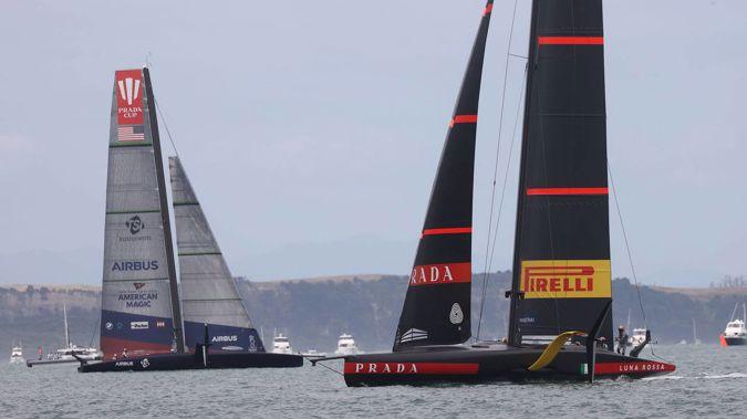 New York Yacht Club's American Magic during the Prada Cup. (Photo / NZ Herald)