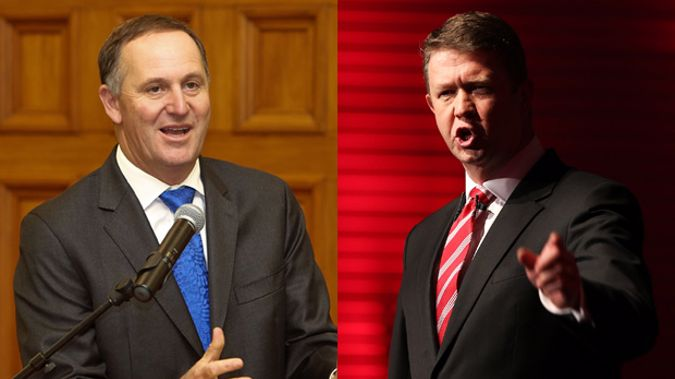 John Key and David Cunliffe (Getty Images)