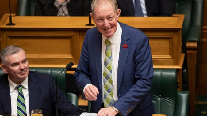 Retiring National MP Nick Smith during his valedictory speech where he apologised for voting against gay marriage. (Photo / Mark Mitchell)
