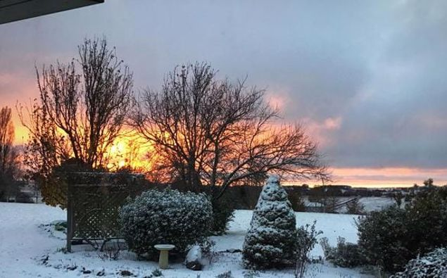 A wintry scene in Guyra. (Photo /  Gail Witt - Supplied to news.com.au)