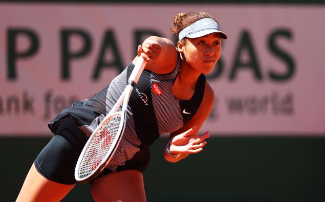 Naomi Osaka wins her French Open first-round match in straight sets. (Photo / Getty)