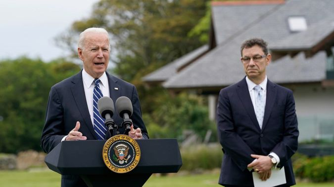 President Joe Biden speaks about his administration's global Covid-19 vaccination efforts ahead of the G-7 summit. Photo / AP