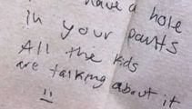 Teacher's 'embarrassing' discovery after finding student note