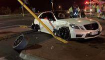 Alleged driver of crashed 'SOBADD'  Mercedes arrested