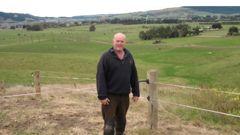 Shane David Gibbons on his Whare Creek farm. (Photo / Otago Daily Times)
