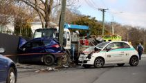 Crash involving car, truck and power pole in Christchurch