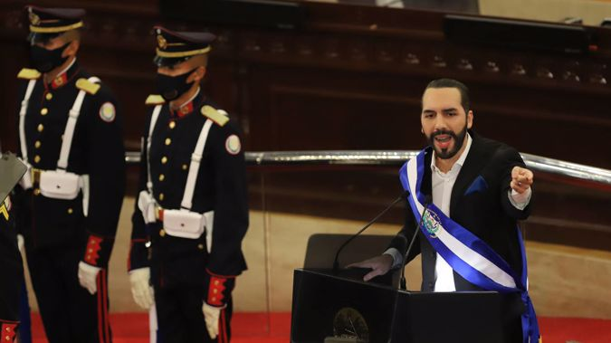 El Salvador's President Nayib Bukele. His country voted to become the first nation in the world to adopt bitcoin as legal tender. (Photo / AP)