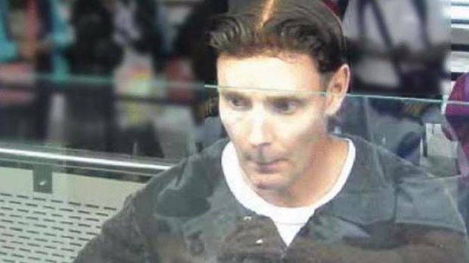 Phillip John Smith at passport control as he leaves New Zealand (Supplied)