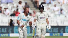 Neil Wagner celebrates taking the wicket of Stuart Broad. (Photo / Photosport)