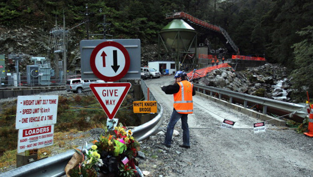 Road to Pike River mine (Getty Images)
