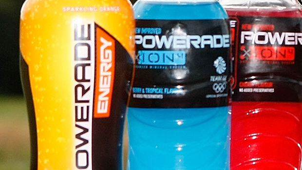 An example of the Powerade bottles being slammed in Australia (Getty Images)