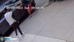 In one of the incidents, three occupants of a blue Toyota Camry yelled anti-Semitic statements before damaging a car's side mirror, the NYPD said. (Photo / CNN)