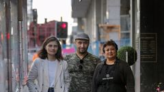 Auckland Central MP Chloe Swarbrick, Midnight Express owner Erdal Demiray and Roma Blooms owner Shobhana Ranchhodji are seeking compensation for disruption from the City Rail Link. (Photo / Alex Burton)