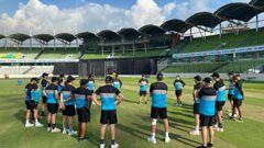 The Black Caps train ahead of the first T20 international against Bangladesh. (Photo / NZC)
