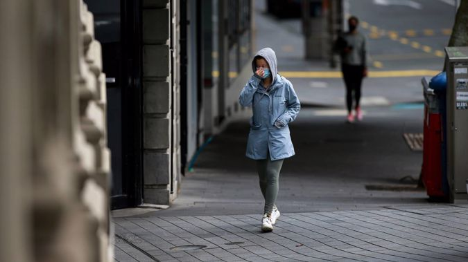 Empty streets in Auckland city amid level 4 lockdown. (Photo / Alex Burton)