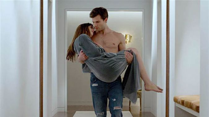 A scene from 'Fifty Shades of Grey'