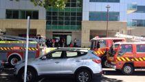 Office blaze evacuates workers