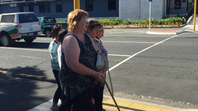 Beverley Sepuloni outside the New Plymouth District Court (Photo supplied)