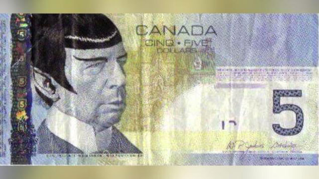 Canadaians 'spocking' five dollar notes