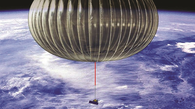 A NASA balloon floating above earth (Supplied)