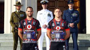 Warriors unveil ANZAC strip