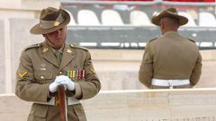 Australian soldiers attend an Australian Memorial Service at the Lone Pine Memorial (Getty Images)