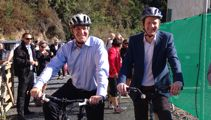 AUDIO: John Key and Russel Norman announce extra cycle trail funding