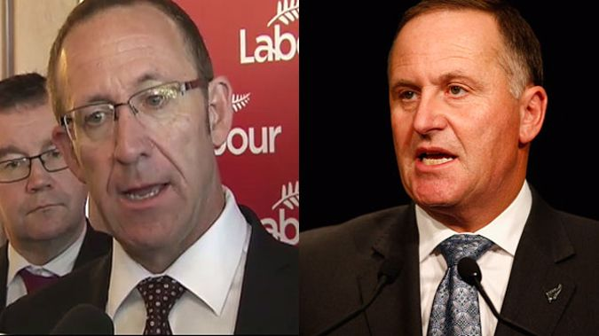 Andrew Little and John Key are at odds over Super (Supplied)