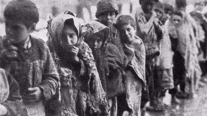 Armenian children pictured during World War 1 (Supplied)