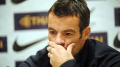New Zealand All Whites captain Ryan Nelsen at a press conference prior to a World Cup qualifier in 2009. (Photo / Ross Setford)