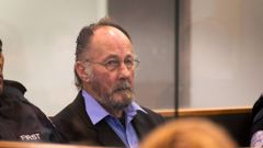 Stewart Murray Wilson in the dock during his sentencing at the Auckland High Court. Photo / Brett Phibbs