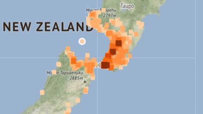 The quake. (Photo / Geonet)