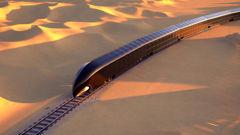A G Train is shown riding through a desert. (Photo / Thierry Gaugain)