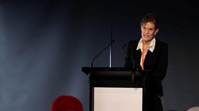 NZSIS director-general Rebecca Kitteridge speaking at the counter-terrorism hui in Christchurch today. (Photo / George Heard)