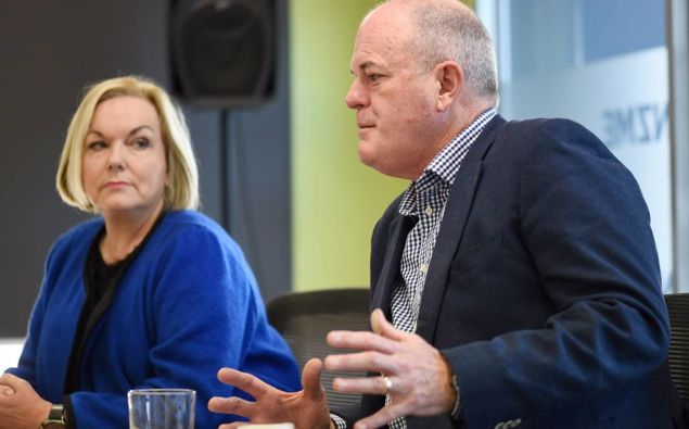 Judith Collins and Todd Muller. (Photo / NZ Herald)