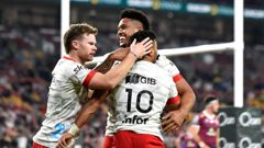 The Crusaders made a statement with a 63-28 thumping of the Reds in Super Rugby Trans-Tasman. (Photo / Getty)