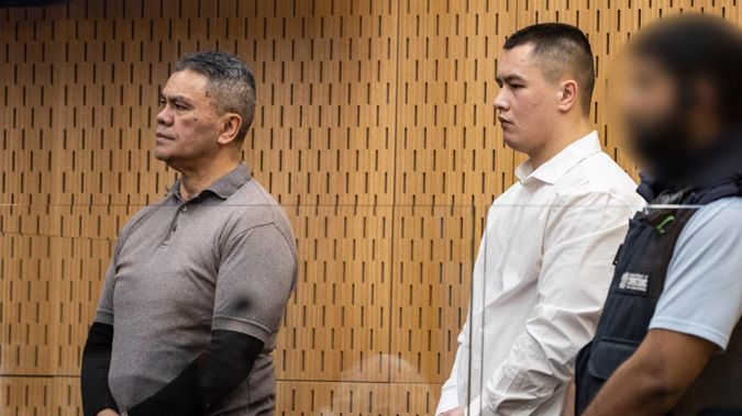 Juan Marsh (L) and Curtis Wealleans (R) are on trial for murdering Brendon Alexander Ross in March 2020. (Photo / George Heard)