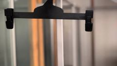 """Just """"one lonely hanger"""" was left after the break-in last year. Photo / Supplied"""