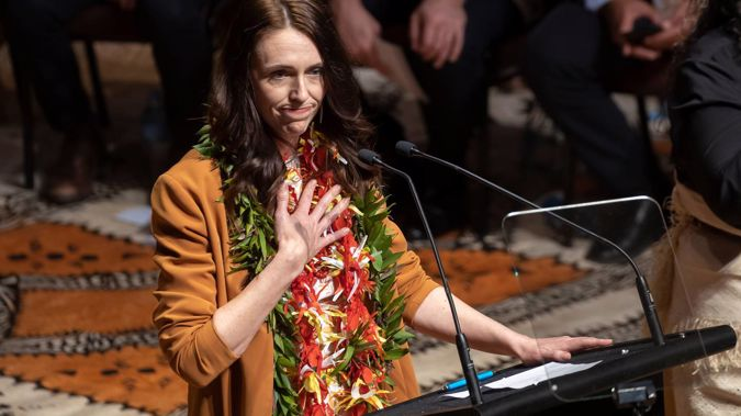 Prime Minister Jacinda Ardern during the New Zealand Government's Dawn Raids Apology, held at the Town Hall, Auckland. (Photo / Brett Phibbs)