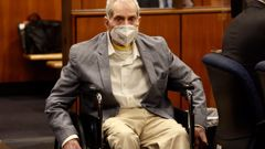 Robert Durst in his wheelchair, a Los Angeles jury convicted Robert Durst of murdering his best friend 20 years ago. (Photo / AP)