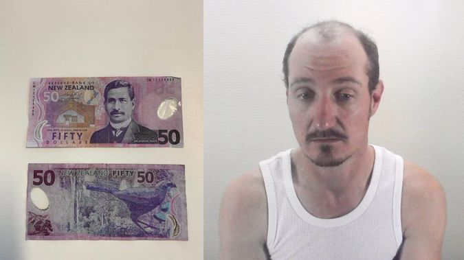 Nicholas Parker spent time perfecting his fake $50 notes. (Photo / Andrew Warner)